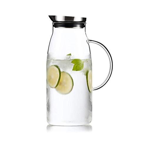 MWPO Glaskrug mit Deckel, Wiederverwendbare Glasflasche ist sehr gut geeignet, damit Weinsaftmilch heißen und kalten heißen Kaffee der Familie Geschenke gibt (Größe: 11 \u0026 Times; 26 \u0026 ti