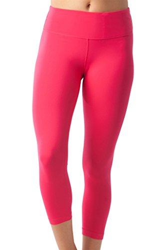 90 Degree By Reflex Yoga Capris - Yoga Capris for Women - Hidden Pocket - Rubine Red - Medium