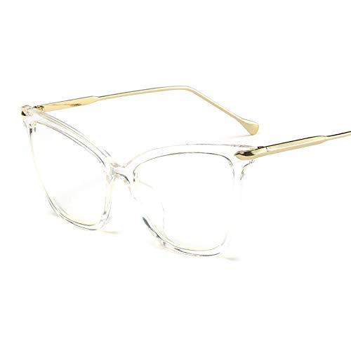 Gafas de sol de las mujeres Gafas de sol de ojo de gato for mujeres - Gafas de sol de ojo de gato con espejo de marco de metal polarizado de gran tamaño for mujer El diseñador retro de las señoras del