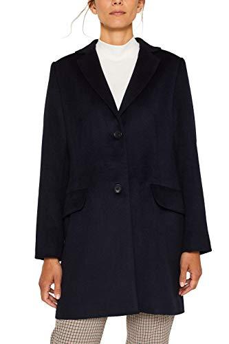 ESPRIT Collection 089eo1g010 Abrigo, Azul (Navy 400), Large para Mujer