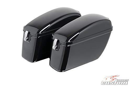 Customaccess AZ1056N Valises Rigides Customacces Silver (Paire) 20L Suzuki VL1500 Intruder (AL/WVAL) '98-'04