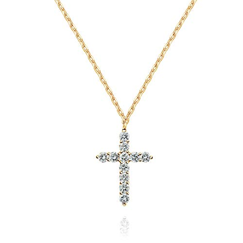 PAVOI 14K Yellow Gold Plated Faith Necklace for Women | Faith Pendant | Yellow Gold Necklaces for Women