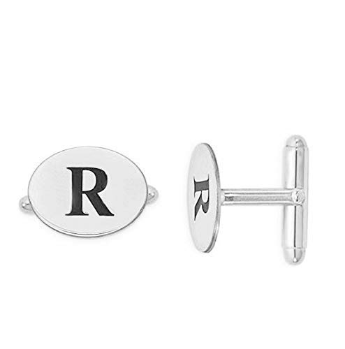Engraved Sterling Cuff Links