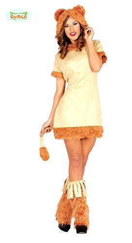 sexy Löwin Karneval Motto Party Kostüm für Damen braun Afrika heiß Mini Gr. S/M, Größe:M