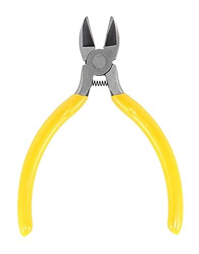 LIXBD Cortador de cuerdas de guitarra profesional compacto extractor de alambre de traste alicates de corte para reparación de guitarra, herramienta Luthier (amarillo) (color: amarillo)