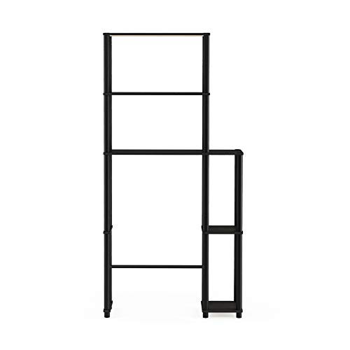 Furinno Turn-N-Tube with 5 Shelves Toilet Space Saver, Espresso/Black