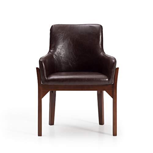 JHDY sillón Ocio, Mesa y Silla Retro Sólido de Madera Comedor Silla de Estudio Sillón de Restaurante Hotel Sillón de Restaurante