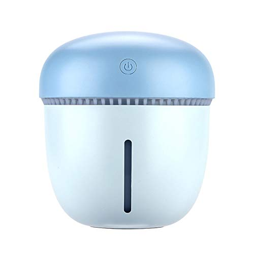 HomeMals Desk Humidifier Whisper Quiet Operation Night Light Function Mini Humidifier Blue
