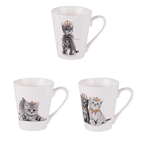 - mug chaton roi 35 cl (lot de 3)