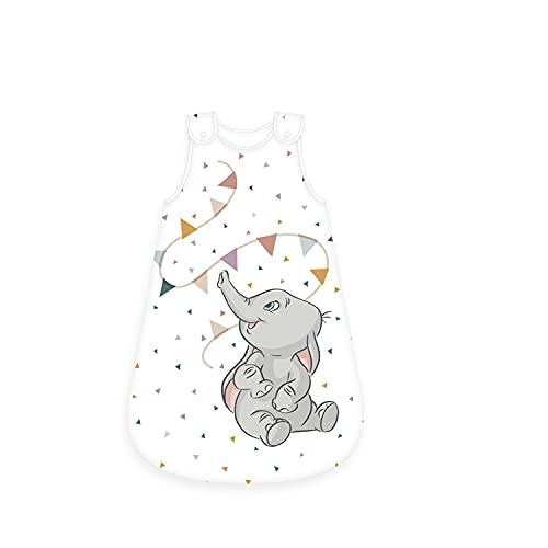 Herding Disney´s Dumbo Baby-Schlafsack, Größe: 70 x 45 cm, Mit leichtläufigem Rundumreißverschluss, Mit zwei Druckknöpfen, Obermaterial: 100% Baumwolle, Füllung: 100% Polyester