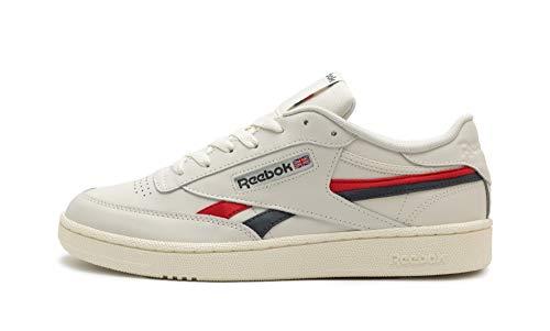Reebok Unisex Club C CC Revenge Sneakers, Chalk/Vector Red/True Grey 7, 42 EU