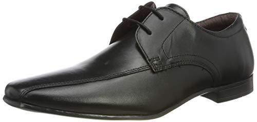 Burton Menswear London Herren Kenward Oxfords, Schwarz (Black 130), 45 EU