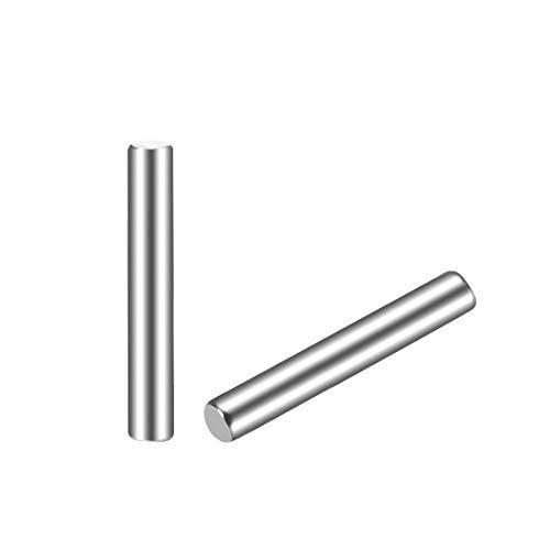 10 Stück 2mm x 25mm Zylinderstift Edelstahl 304 zylindrische Plattenhalter Spindel Fixierung der Elemente Silber