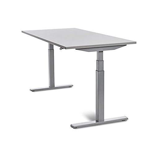 MESA DE ROCADA REGULABLE EN ALTURA ELECTRICAMENTE E-TABLE 160X80CM COLOR BLANCO
