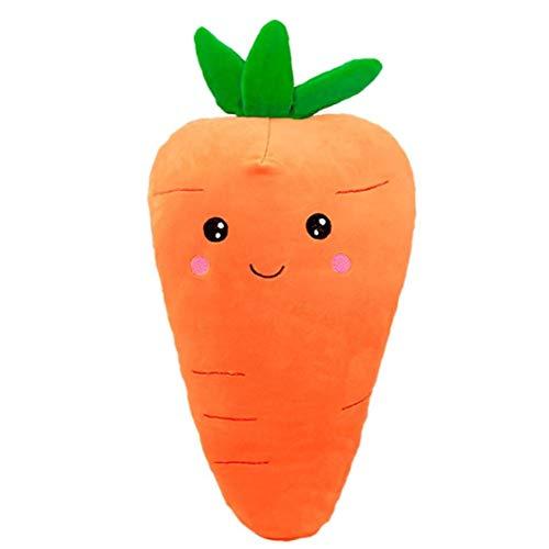 Ruluti 1pc Vegetal Zanahoria Juguetes De Peluche De Felpa Almohada Simulación Zanahoria Felpa Kinder Juguetes Peluches, 55cm / 21.6inch