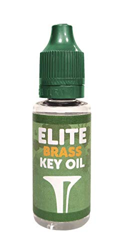Elite Brass Key Oil - Aceite para llaves de instrumentos de viento: clarinete, saxofón, flauta, trompa, tuba, bombardino, etc.