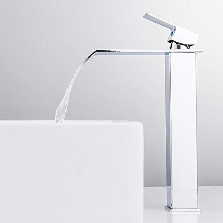 Waschtischarmaturen Wasserfall Wasserhahn Messing Bad Wasserhahn Waschbecken Wasserhahn Hoch Mischbatterie Hot & Cold Waschbecken Wasserhahn