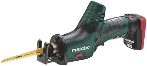 Metabo 6.02264.75 PowerMaxx ASE Akku-Säbelsäge TV00, 10.8 V, Schwarz, Grün