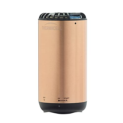 Thermacell Patio Shield Mosquito Repeller Metallic Edition; Highly Effective Mosquito Repellent for Patio; No Open Flame, Long Lasting, Scent-Free, Bug Spray Alternative; Includes 12-Hr Refill