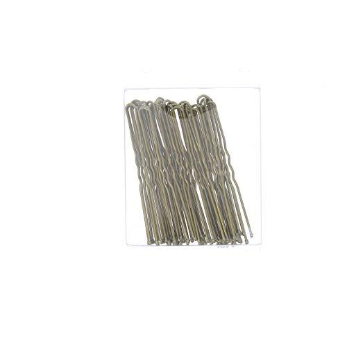 Set mit 36 unsichtbaren Haarnadeln 6,5 cm aus vergoldetem Metall