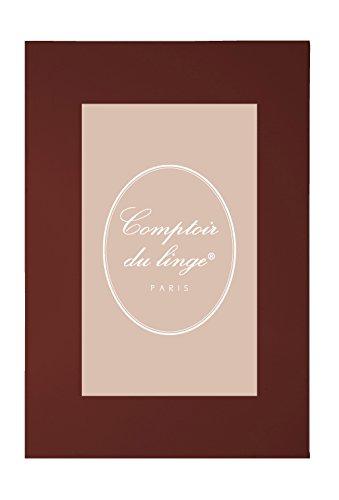 Comptoir du Linge d351827sábana Uni algodón Chocolate 275x 180cm