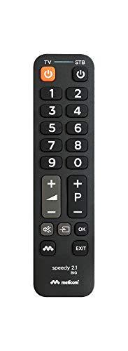 Meliconi Speedy Big 2.1 Telecomando Universale 2 in 1 con tastiera semplificata, ideale per comandare TV e 1 decoder esterno, piccolo e maneggevole