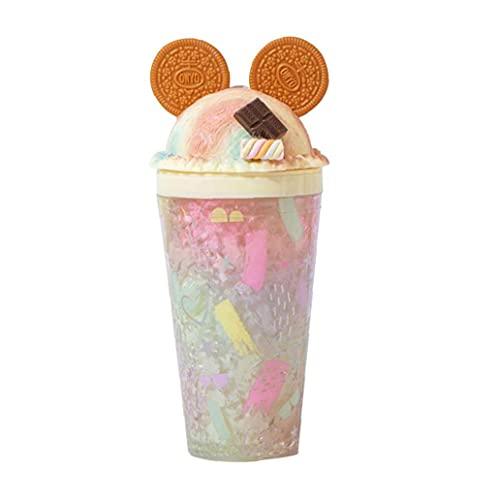 450 ml de verano taza de hielo triturado vaso de almacenamiento de doble capa fría de modelado creativa taza de agua linda chica taza de hielo de herramientas Gadgets de cocina