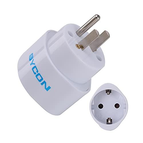 SYCON 2 PCS EU zu Amerika Reiseadapter, Reisestecker Stromadapter 2 Pin zu 3 Pin Stecker Adapter für Reisen oder Elektronische Geräte von für Kanada Thailand Mexiko Steckdosenadapter
