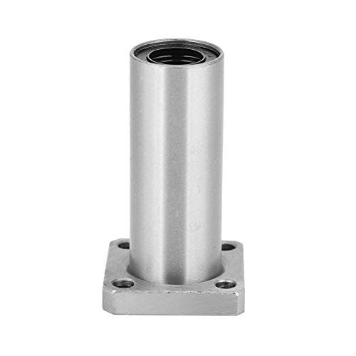 LANTRO JS - Rodamientos lineales de bolas de brida cuadrada, buje de rodamiento de bolas de movimiento lineal de brida cuadrada larga de acero inoxidable(8mm)