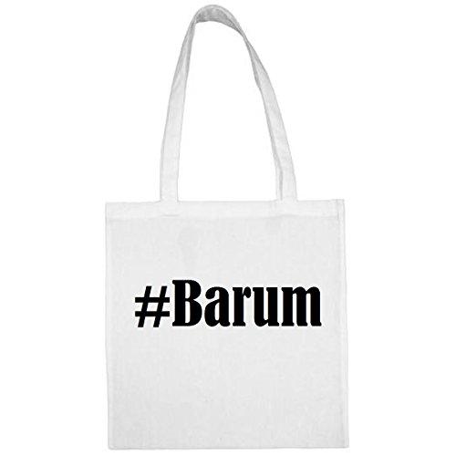 Tasche #Barum Größe 38x42 Farbe Weiss Druck Schwarz