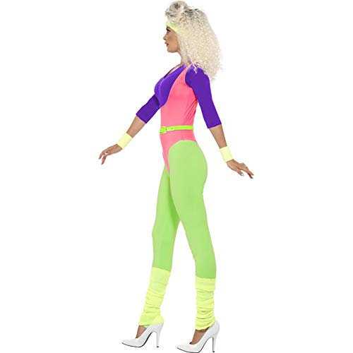 Smiffy's 80s Work out Costume, with Jumpsuit