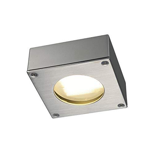 SLV 111482Quadrasyl 44d Luminaire d'extérieur, Angulaire, Silvergrey, GX53, Max. 9W, Aluminium, Gris argenté,