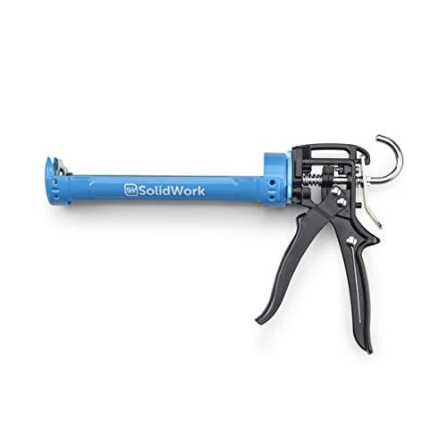 SolidWork pistola silicona silicona con la mayor relación de palanca 24:1 - Pistola de silicona para procesar todos los cartuchos de silicona y adhesivo de 310 ml