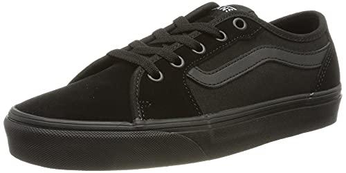 Vans Damen Filmore Decon Suede/Canvas Sneaker, Wildleder-Segeltuch, schwarz, schwarz, 38 EU