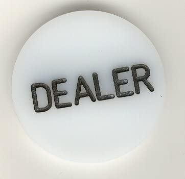 Trademark Max 68% OFF Poker Acrylic Dealer – Max 81% OFF Engraved Button Profession
