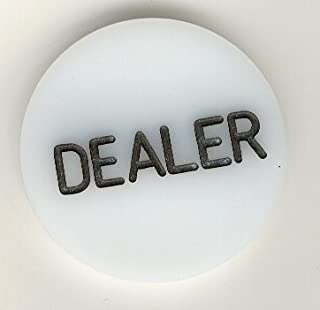 Trademark Poker Acrylic Dealer Button – Engraved Professional Casino Table Accessory for Poker, Texas Hold-Em, Blackjack and Other Card Games