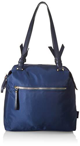TOM TAILOR Damen Taschen & Geldbörsen Shopper Antonella dark blue cognac,OneSize