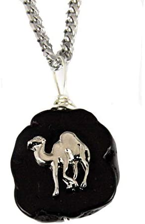 The Quiet Witness 4031903 AEAONMS Masonic Black Stone Necklace Prince Hall Mecca Camel Mason product image