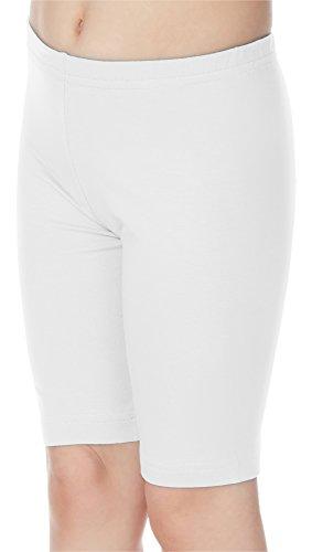 Merry Style Leggings Corti Bambina e Ragazza MS10-132 (Bianco, 128 cm)