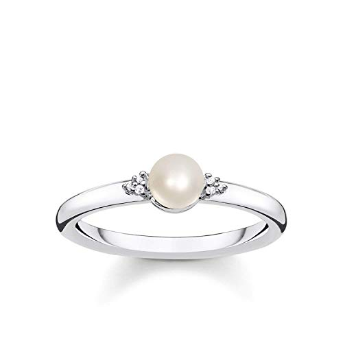 THOMAS SABO Damen Perlenring 925er Sterlingsilber D_TR0039-765-14