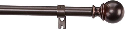 Amazon Basics Gardinenstange mit rundem Endstück, 91-182cm, Bronze