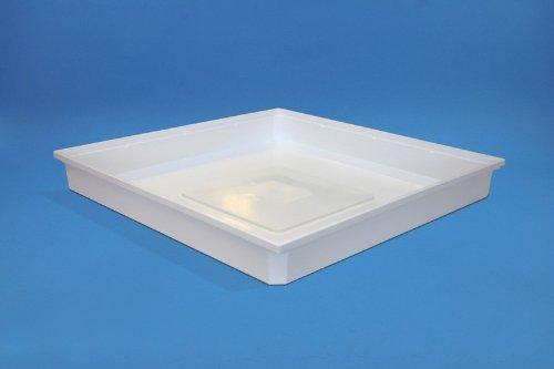 daniplus© Wateropvangbak 70 x 70 x 10 cm, opvangbak, bodemkuip voor wasmachine - beschermt tegen lekkende water