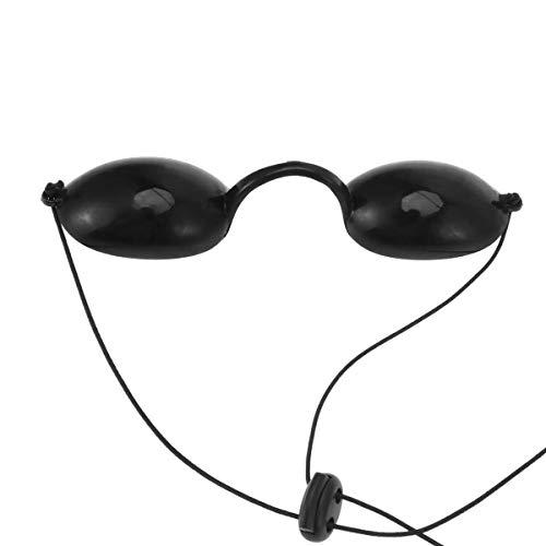 Wingeri Schlafen Erwachsene Sonnenbrille UV-Schutz Augenklappe Lichttherapie Brille for Augenkrankheiten (schwarz) Reise
