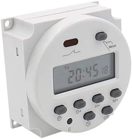 Temporizador digital semanal programable 12 V 16 A manual italiano relé interruptor reloj