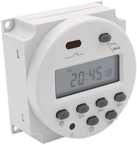 Temporizador digital semanal programable 12 V 16 A manual italiano relé interruptor reloj