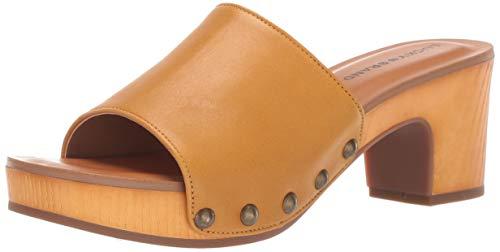 Lucky Brand Women's FINEENA HIGH Heel Clog, Ochre, 5.5 M US