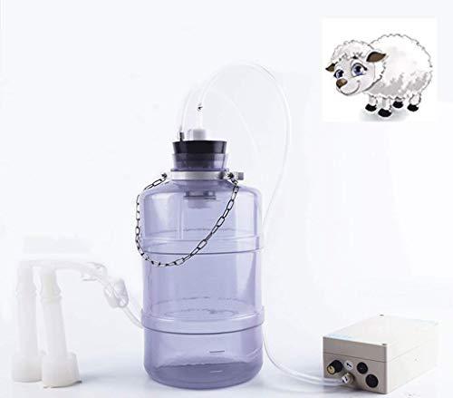DONGYUA 2L. Milch, Schaf - und ziegenmilch melken Maschine melker elektrische brustpumpe für Rinder und Schafe, kleine haushalte lebensmittelqualität Eimer Batterie - Tester für die batterien