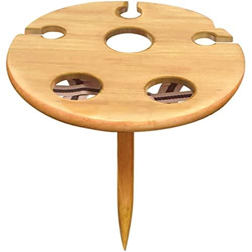 Tavolino da caffè Portatile del bicchiere di vino portatile Tavolo da picnic in legno Home Giardino da giardino all'aperto Camping Tavolo creativo pieghevole Tavolino da caffè in finto legno