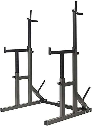 Byakns Hogar Squat Rack Multifunción Barbell Barbell Stain Home Fitness Ajustable Squat Rack Lifting Bench Press Station