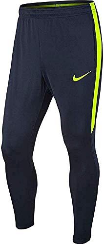 Nike M Nk Dry Sqd17 Kpz Pantalón Largo, Hombre, Azul (Obsidian / Volt / Volt), M